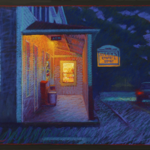 "ALLEY'S AT DUSK, pastel, 32""x 40"", 2012, SOLD"