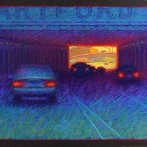 "HARTFORD TUNNEL, pastel, 24""x 30"", 2008, SOLD"