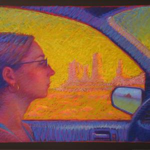 "PASSAGE, pastel, 32""x 40"", 2007, SOLD"