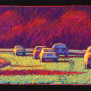 """SPEED LIMIT, pastel, 20""""x 40"""", 2009, SOLD"""