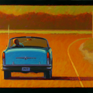 "56 BUICK, oil, 24""x 48"", 2011, SOLD"