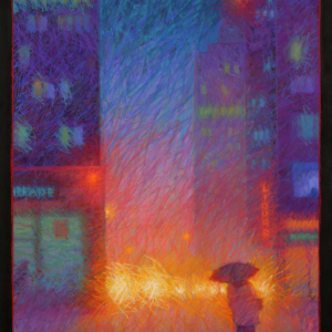 "65th and 3rd, pastel, 40""X 28"", 2015, SOLD"