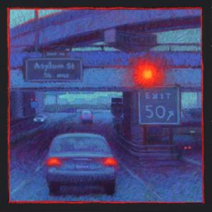 "ASYLUM STREET EXIT, pastel, 24""x 24"", 2008, SOLD"