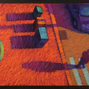 "CROSSWALK, pastel, 30""x 44"", 2014, $3,500"