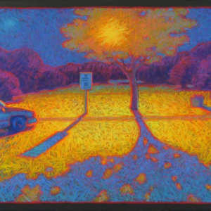 "FIFTEEN MINUTE PARKING, pastel, 32""x 40"", 2006, SOLD"