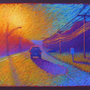 "HEADING WEST, pastel, 32""x 40"", 2005, SOLD"