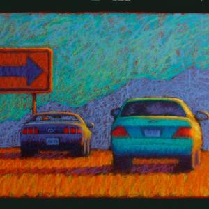 "HUMPHREY'S PEAK, pastel, 20""x 40"". 2010. $1,800"