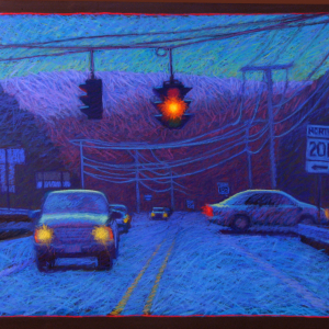 "INTERSECTION, pastel, 32""x 40"", 2006, SOLD"