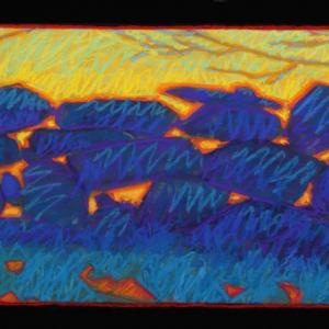 "ISLAND GRANITE, pastel, 14""X 28"", 2017, SOLD"