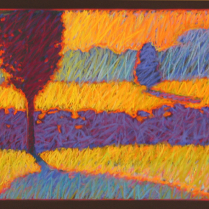 "JULY MORNING, pastel, 24""x 48"", 2003, SOLD"