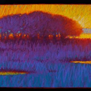 "FELIX NECK, MORNING, pastel, 18""x 40"", 2016, SOLD"