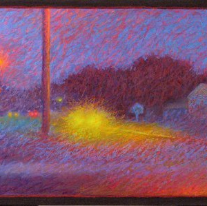 "MAIN STREET, oil and oil stick, 24""x 48"", 2007, SOLDSOLD"