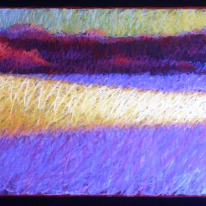 "MORNING LIGHT, pastel, 12""x 28"", 2001, SOLD"