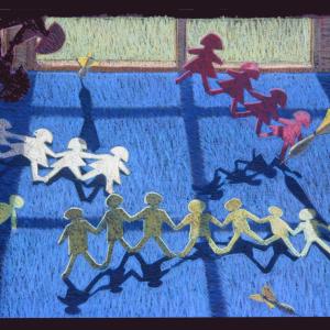 "PAPER DOLLS, pastel_30""x 38"", 1984, SOLD"