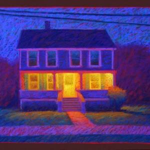 "PORCH LIGHT,  pastel, 28""x 34"", 2006, SOLD"