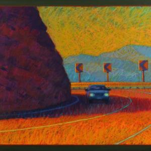 "ROUTE 502, NM, pastel, 28""x 32"", 2011, $2,000"