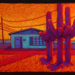 "TOURIST INFORMATION, MARANA, AZ, pastel, 32""x 40"", 2009, SOLD"