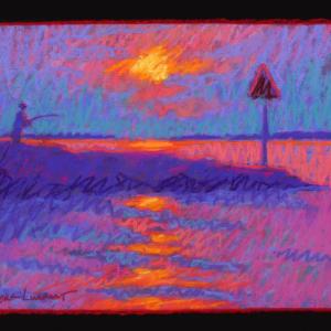 "TASHMOO DAY MARKER, pastel, 9""x 12"", 2017, SOLD"