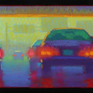 "TUNNEL II, pastel, 18""x 40"", 2017, $2,800"