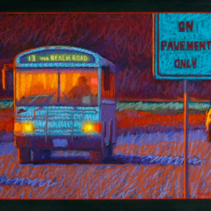 "VIA BEACH ROAD, pastel, 20""x 30"", 2013, SOLD"