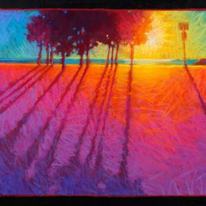 "WABAN PARK MORNING, pastel, 18""x 28"", 2020, $2,200"
