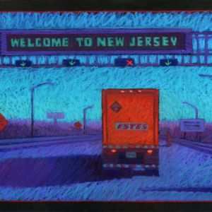 "WELCOME TO NEW JERSEY, pastel, 20""x 30"", 2013, SOLD"