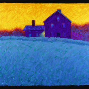 "YELLOW SKY, oil, 37""X 57"", 2002, SOLD"