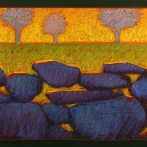 """ALLEN FARM WALL, pastel, 20""""x 26"""", 2011, SOLD"""