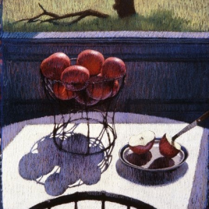 APPLES AND WINDSOR, pastel, 30x40, 1983, SOLD