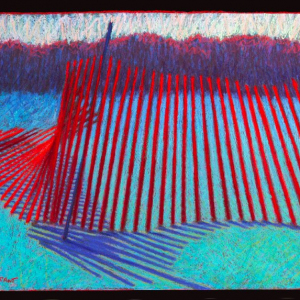 "SNOW FENCE, pastel, 32""x 40"", 1987, SOLD"