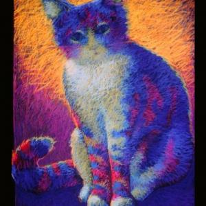 "MARSHA MALLO, pastel, 40""x 30"", 1996, SOLD"