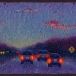 "ROUTE 2 WEST, pastel, 24""x 40"", 2004, SOLD"