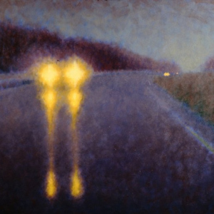 "THE COMMUTE, oil, 48""x 60"", 1999, SOLD"