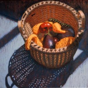 "VEGGIES, pastel, 30""x 36"", 1981, SOLD"